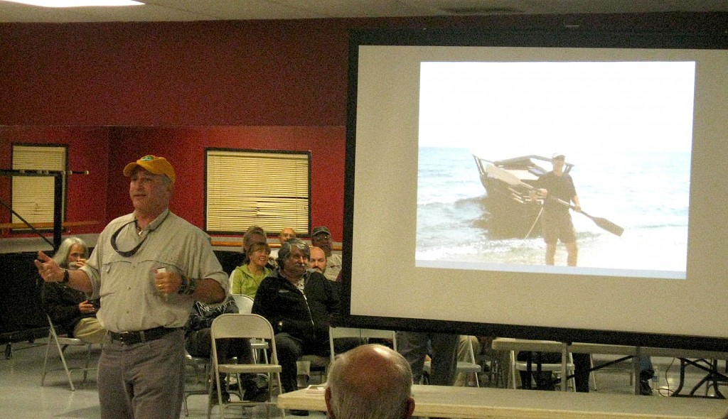 Alan Feldstein speaking with the Valley Wide Kayak Club in Hemet