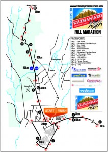 The Kilimanjaro Marathon Map