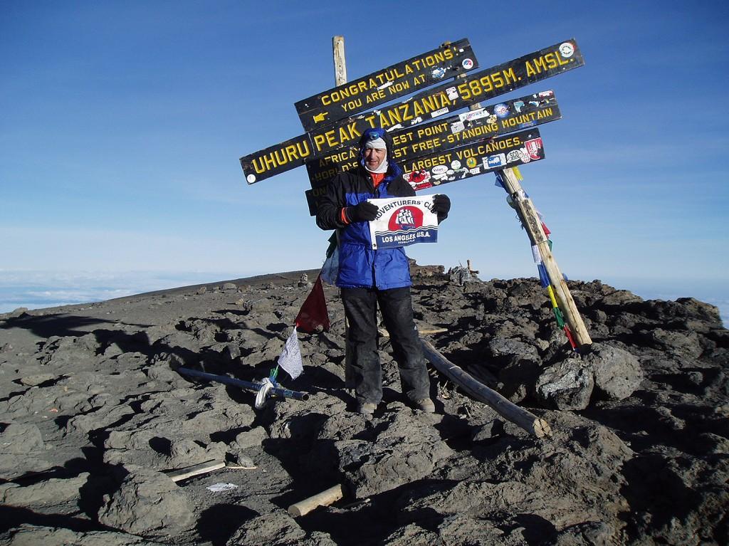 Alan Feldstein on Uhuru Peak Tanzania