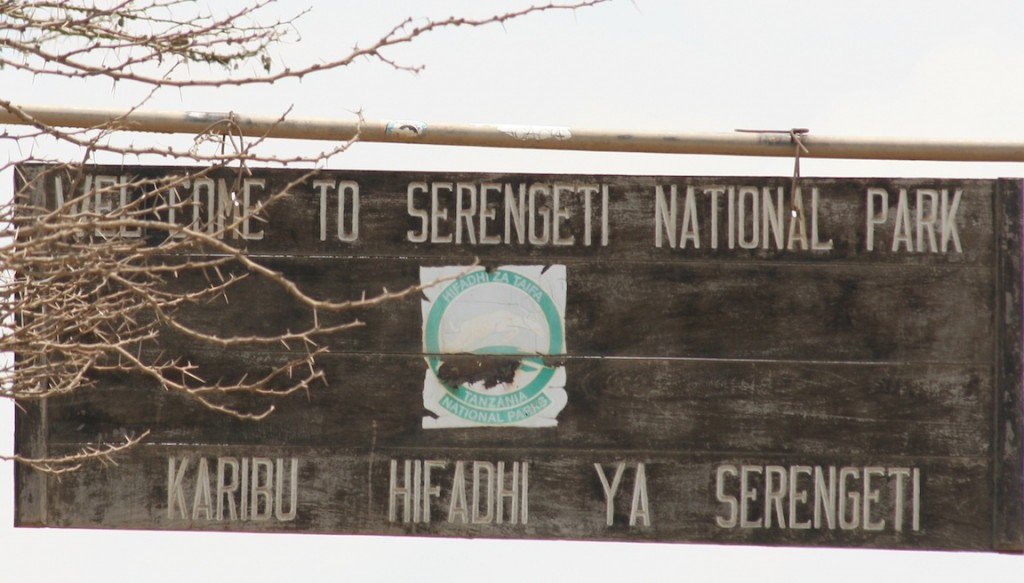 Serengeti National Park Sign