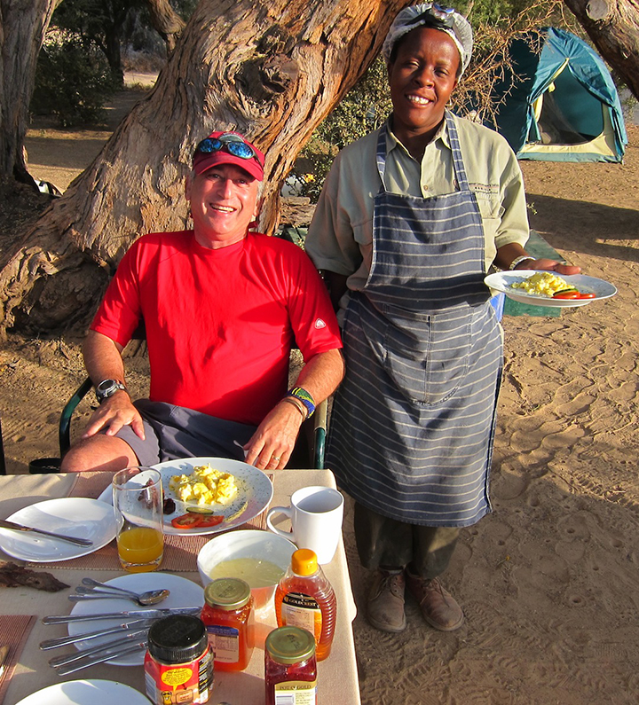 Alan and Sonya - Great Food on Safari