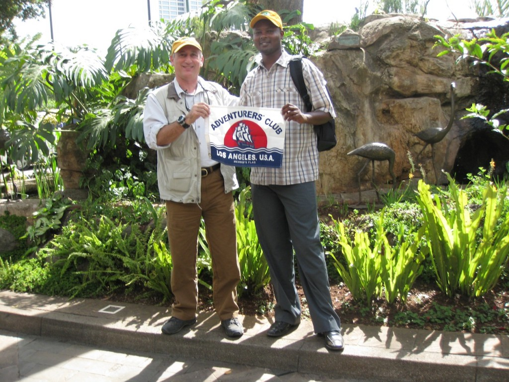 Alan and Patrick in Nairobi, rafiki