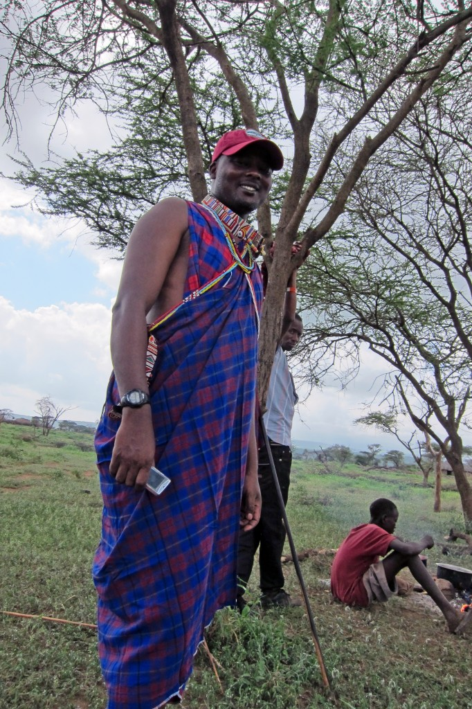 Patrick in his comfortable Maasai dress