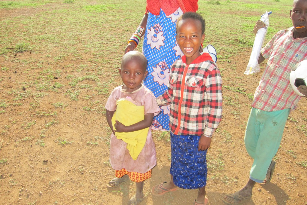 Happy Maasai Children at their village