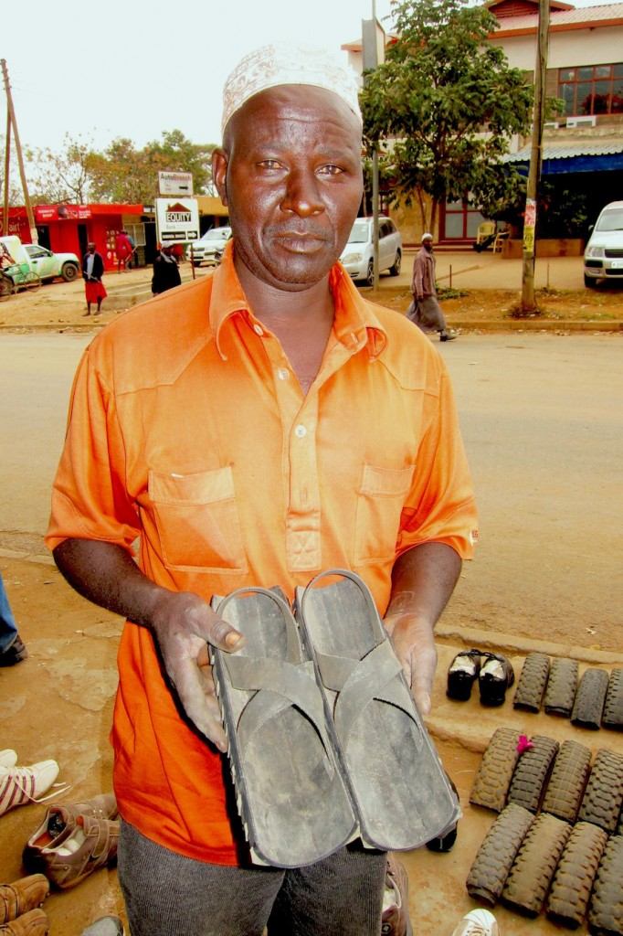 A Pair of African Customized Shoes