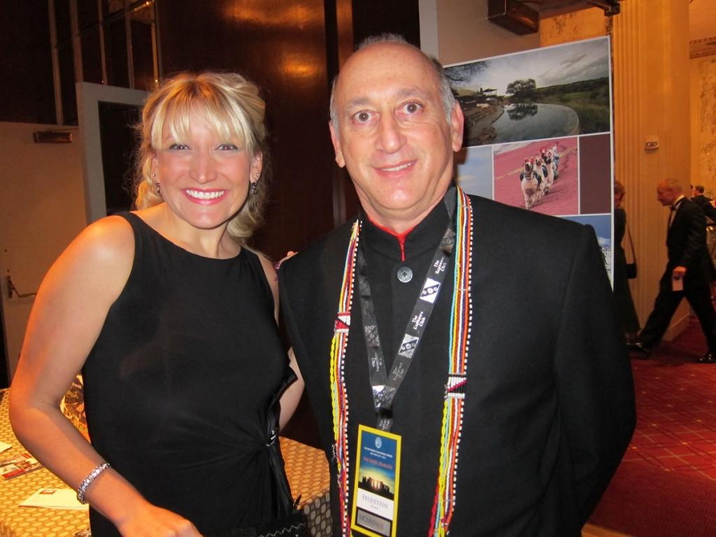 Allison Fleece and Alan Feldstein at the Explorers Club Annual Dinner