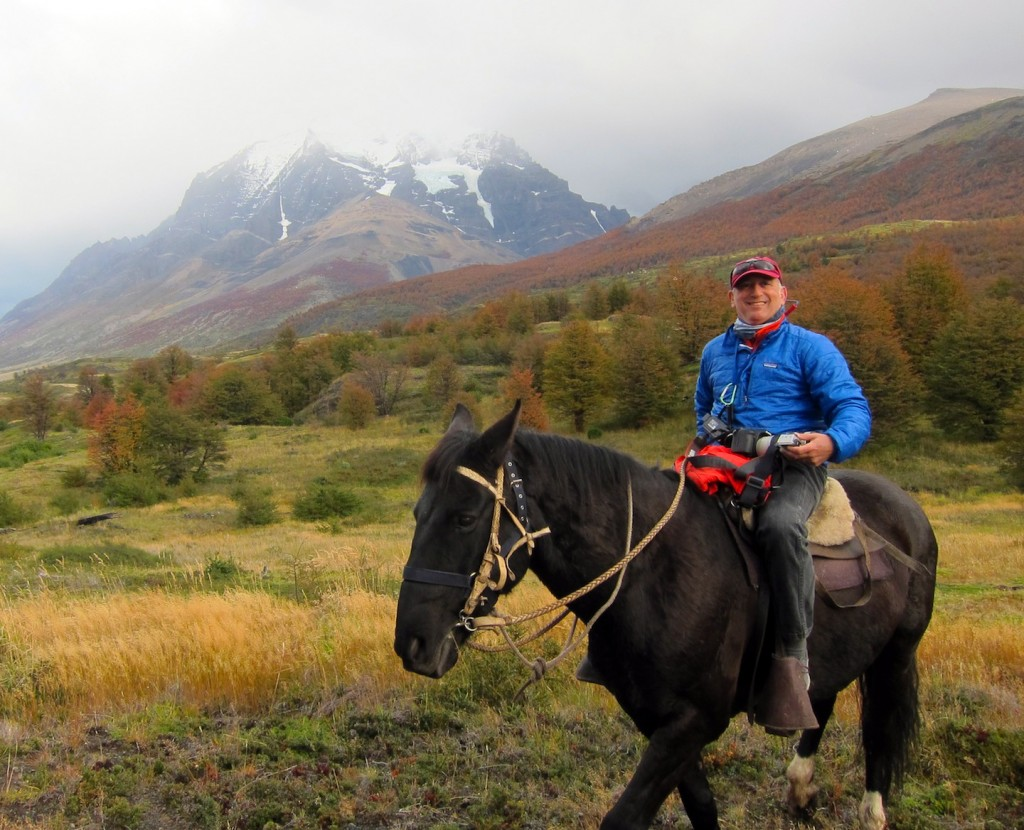 Alan Feldstein on Horseback, Torres del Paine National Park