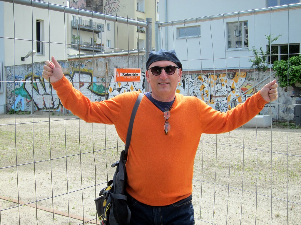 Alan Feldstein In Front of Some of the Berlin Wall