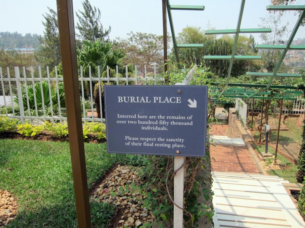 Memorial Burial Sign