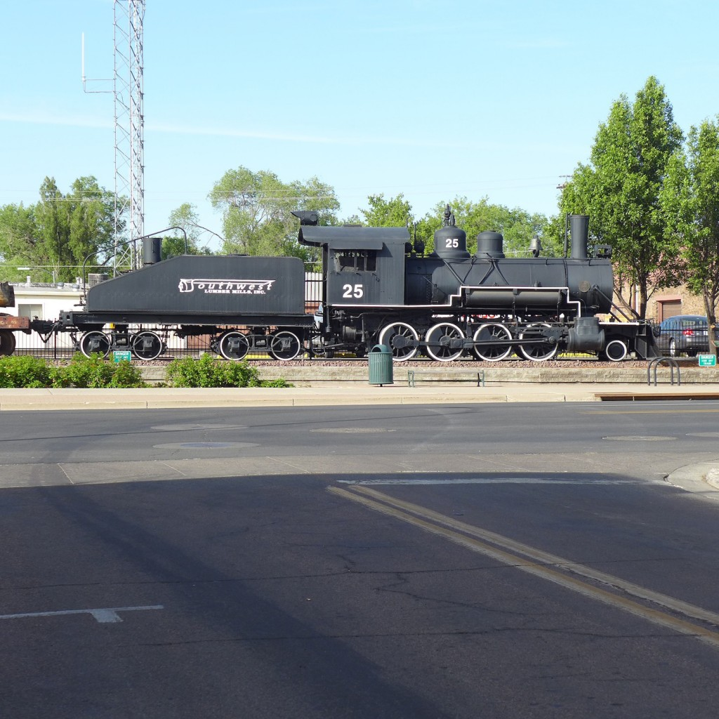 At The Flagstaff Train Station