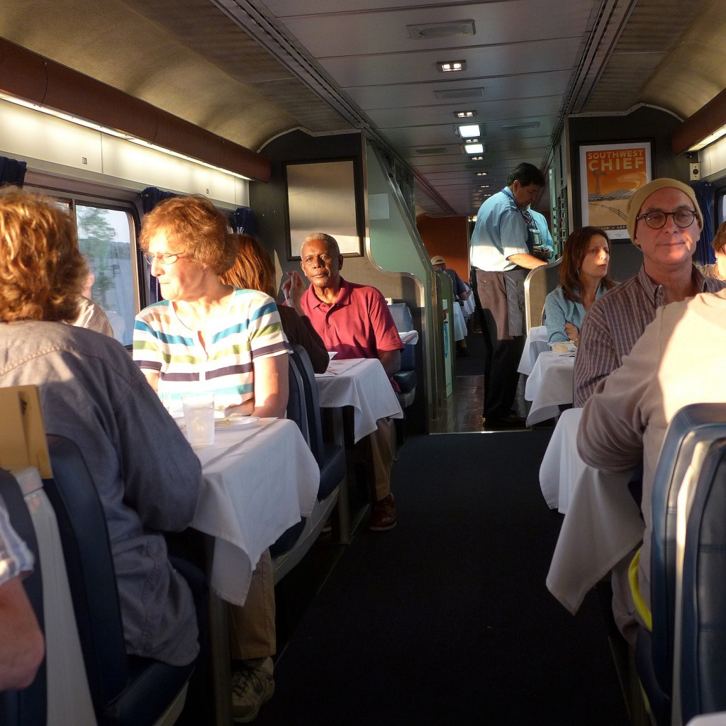 Dinner On The Dining Car