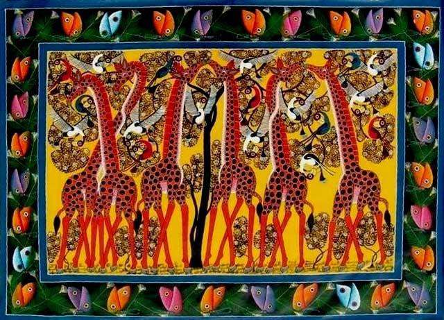 Tingatinga Giraffes