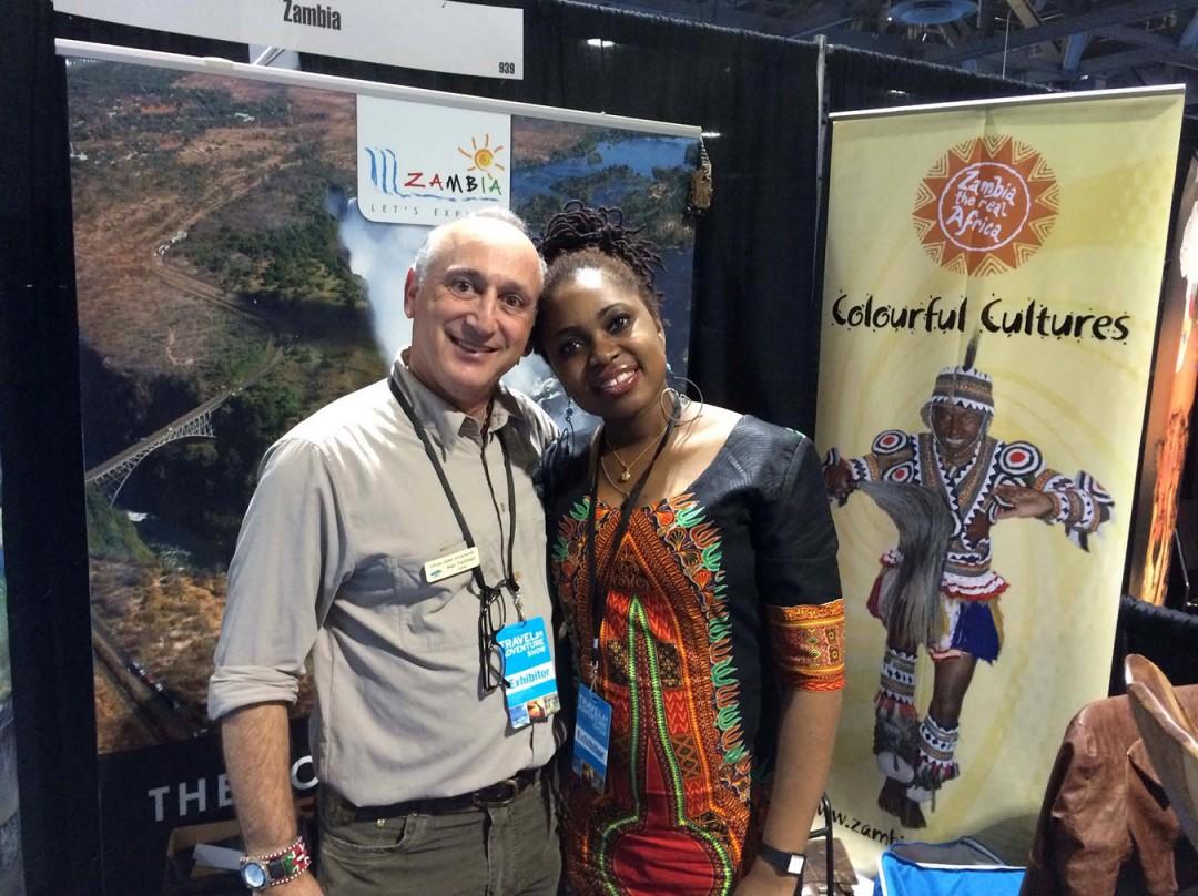 Alan & Marsha Chipasha Achiune Holdway at LA Travel Show