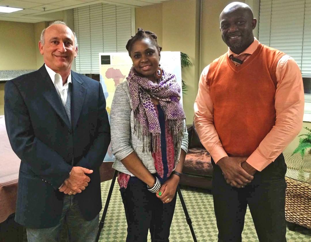 Alan with First Secretary of Tourism Marsha Holdway and Zambian Honorary Counsel Robert Sichinga