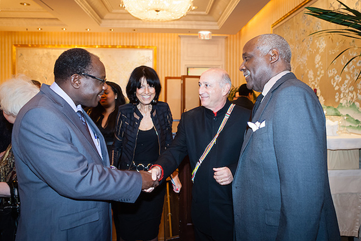 Dr. Meru, Karen Hoffman, Alan Feldstein and Richard Roundtree