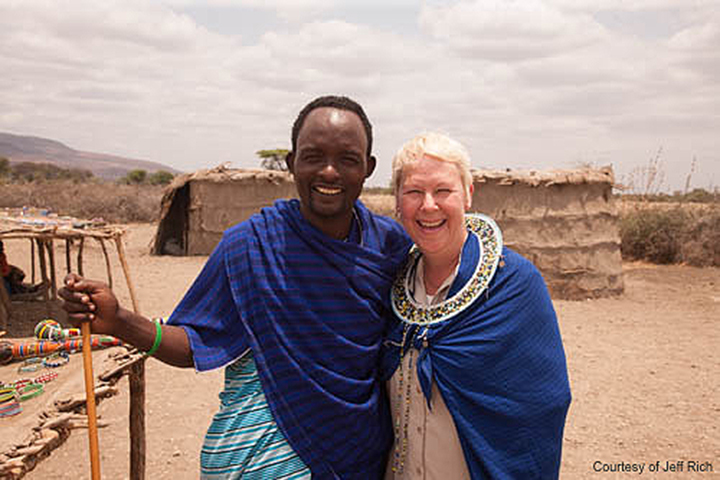 Larissa & Maasai Friend