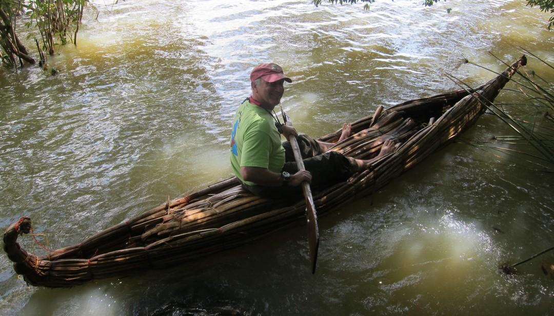 Paddling A Papyrus Kayak