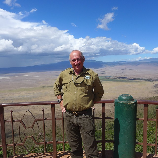 Alan Feldstein at Ngorongoro Crater