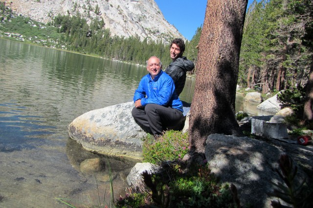 Alan Feldstein and Son at Young Lake, Yosemite National Park