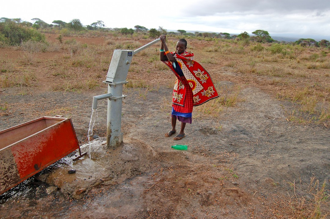 Local Woman Using the New Well