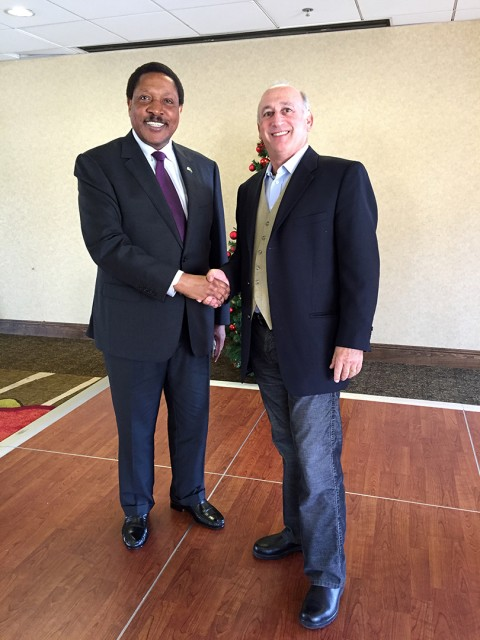 Alan Feldstein and Ambassador Masilingi