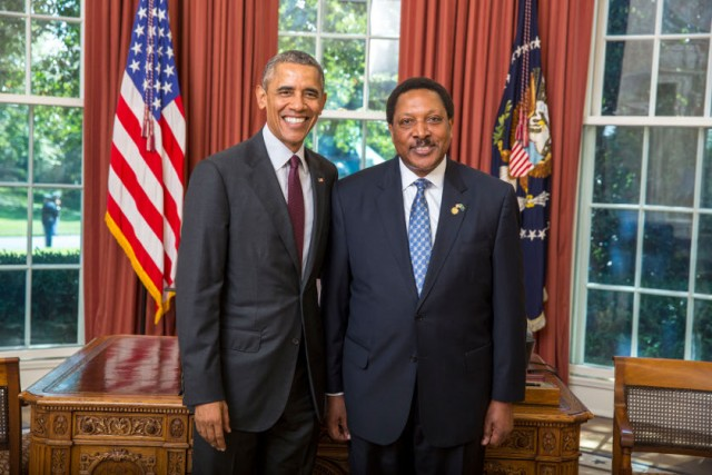 Ambassador H.E. Masilingi and President Obama